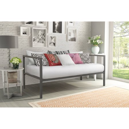 Modern Tribeca Metal Daybed  Gunmetal Gray