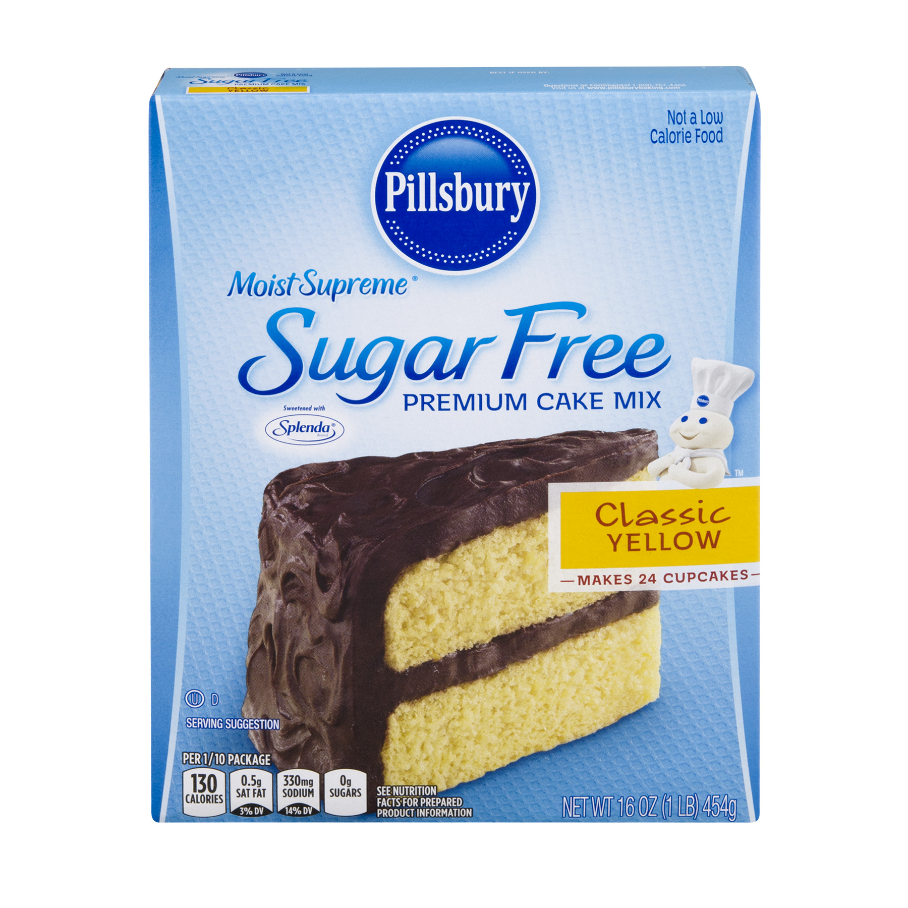 Pillsbury Moist Supreme Sugar Free Premium Cake Mix Classic Yellow, 16.0 OZ