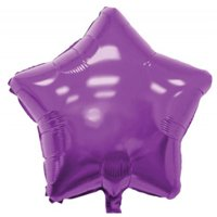Balloons and Weights 792 18 Inch Star Foil Mylar Balloons Purple 50 pc