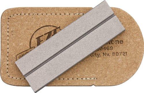 "Eze-Lap Diamond Sharpener EZL32F 1/"" x 4/"" Sharpening surface mounted on a walnut"