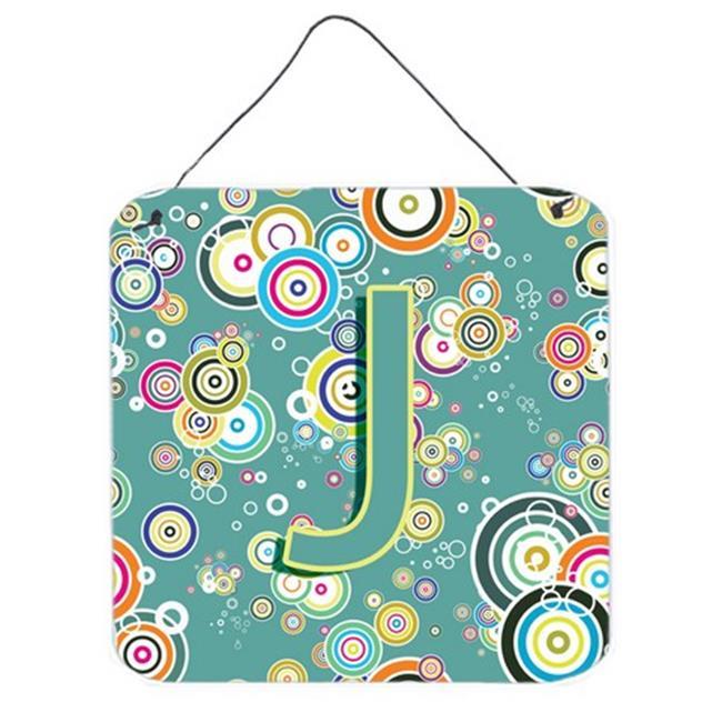 Carolines Treasures CJ2015-JDS66 Letter J Circle Circle Teal Initial Alphabet Wall and Door Hanging Prints - image 1 of 1