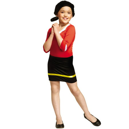 Child Olive Oyl Popeye Cartoon Halloween Costume