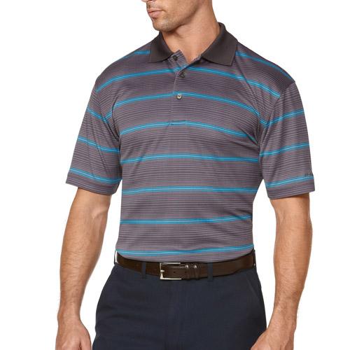 Men's Short Sleeve Print Shadow Stripe Polo