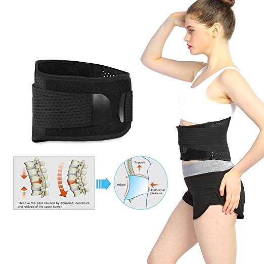 HURRISE Lumbar Support Back Brace - Helps Men & Women Relieve Lower Back Pain with Sciatica Adjustable Compression Straps