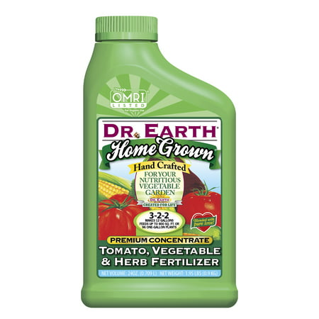 Dr. Earth Organic & Natural Home Grown Tomato, Vegetable & Herb Fertilizer, 24 oz Concentrate