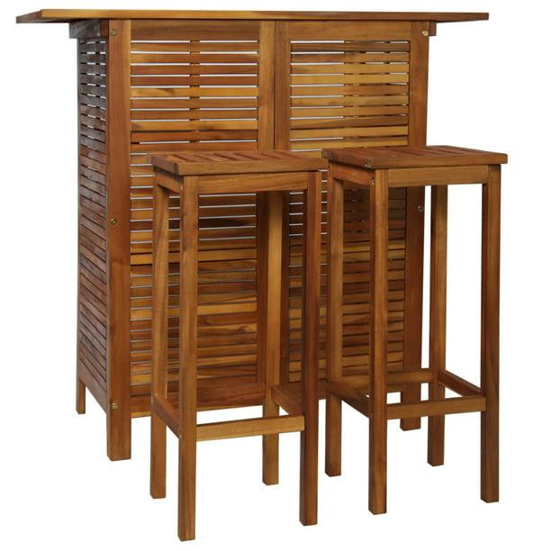 Chair Set Solid Acacia Wood Kitchen, Bar Sets Furniture