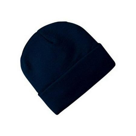 Blank Long Cuff Beanie - Navy Blue Polo