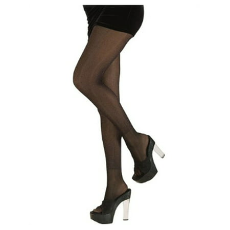 Womens  Black Princess or 80s Costume Glitter Tights - Glitter Pantyhose