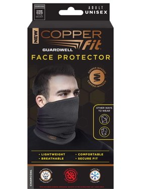 As Seen On TV Copper Fit GuardWell Face Protector Gray