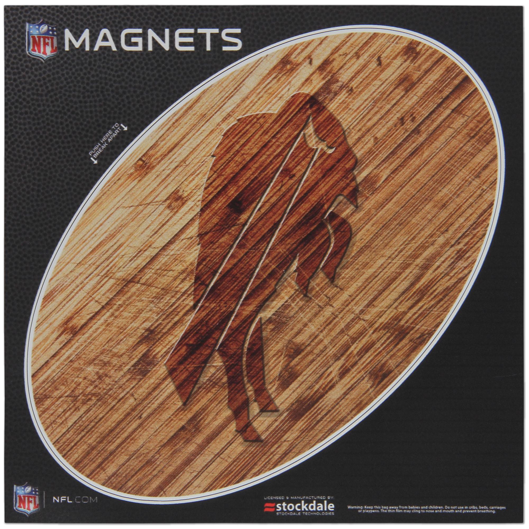 Buffalo Bills 6 x 6 Wood Design Magnet - No Size