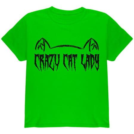 Halloween Crazy Cat Lady Youth T Shirt](Crazy Halloween Photos)