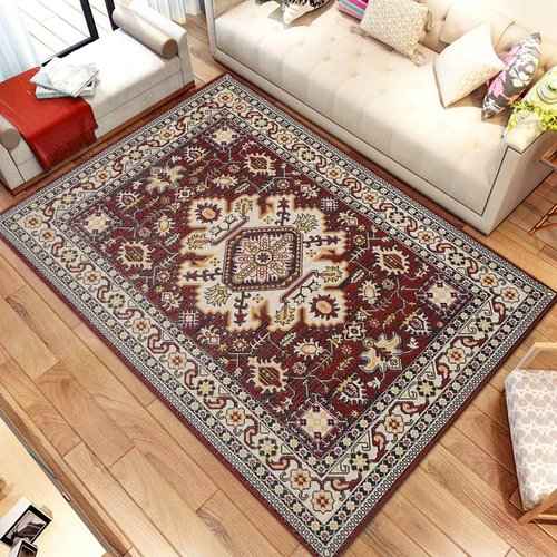 Astoria Grand Gillen Medallion Persian Formal Traditional Red/Brown Area Rug