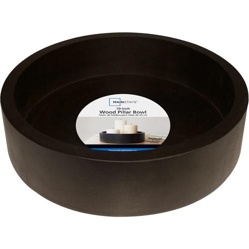 "Mainstays 8"" Decorative Wood Bowl"