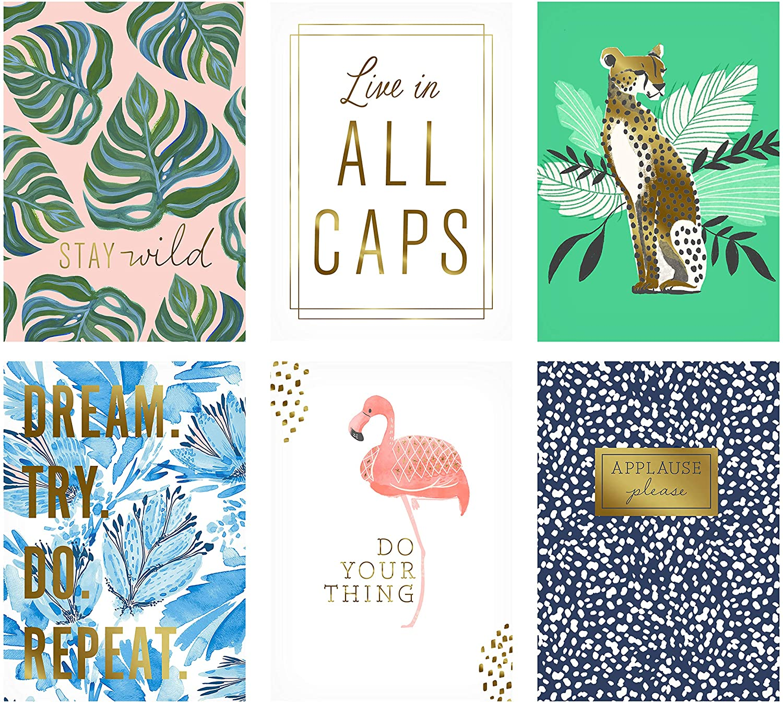 hallmark framable postcards colorful prints 6 flat panel