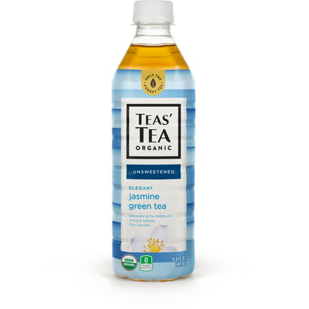 Teas' Tea Unsweetened Jasmine Green Tea, 16.9 Ounce (Pack of 12), Organic, Zero Calories, No Sugars, No Artificial Sweeteners, Antioxidant Rich, High in Vitamin