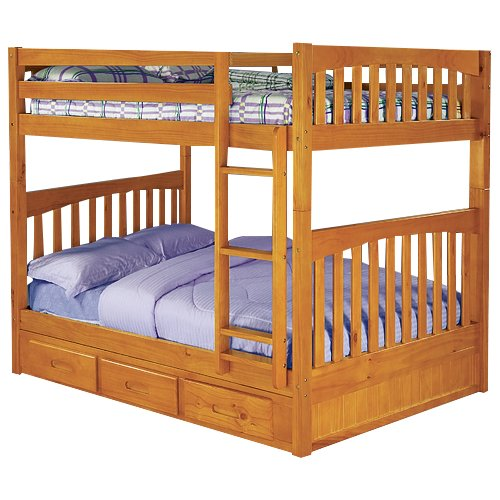 Discovery World Furniture Weston Full Over Full Bunk Bed Walmart Com