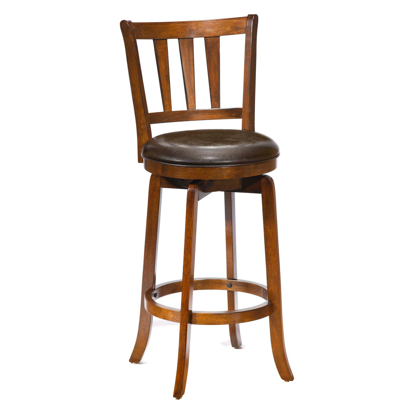 Hillsdale Presque Isle 30 in Swivel Bar Stool Cherry Walmart