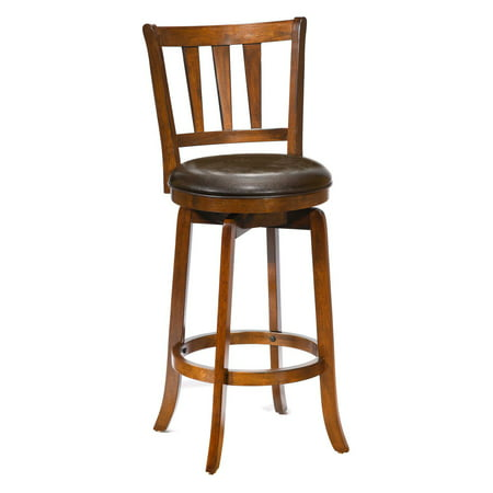 Hillsdale Presque Isle 30 in. Swivel Bar Stool - Cherry