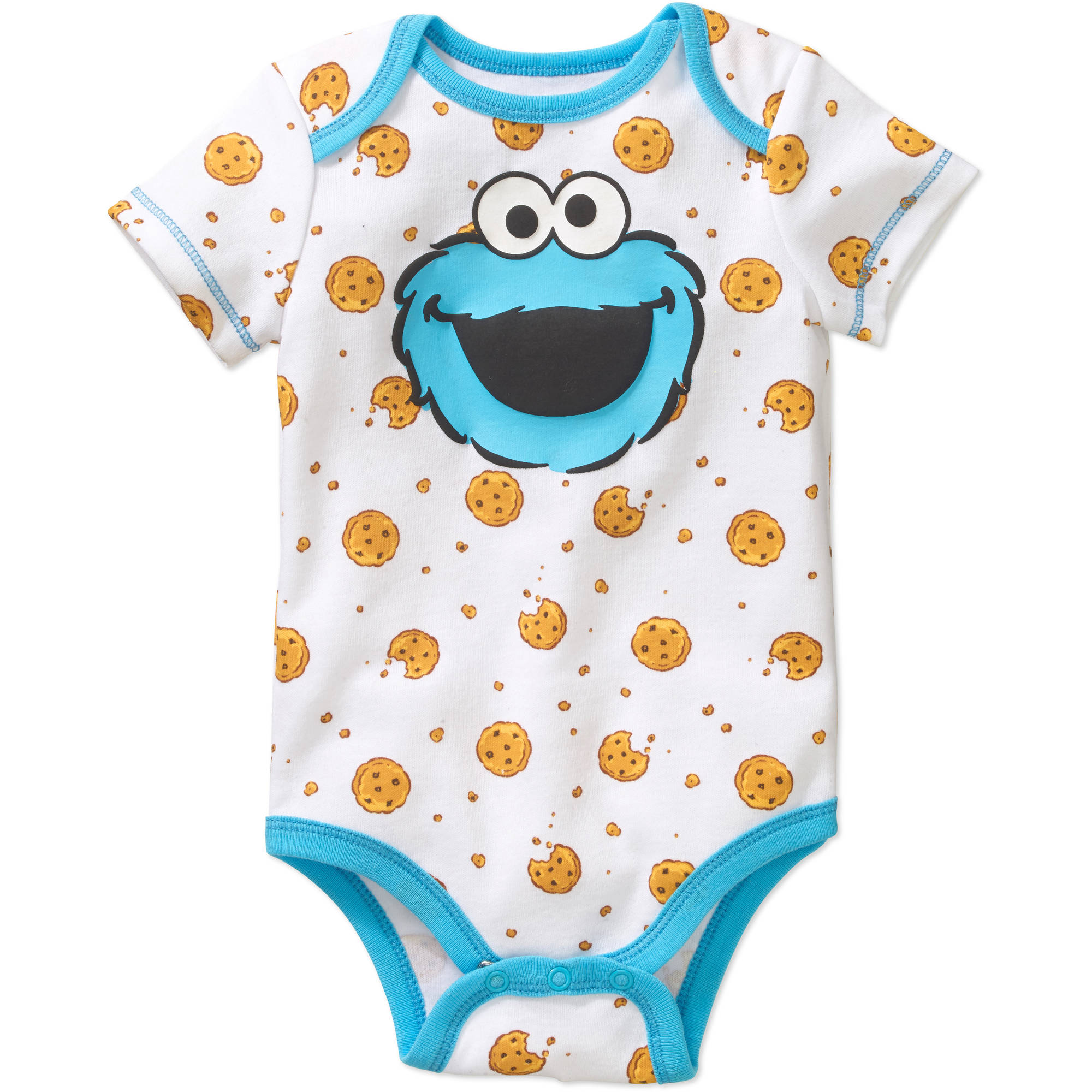 Generic Cookie Monster Newborn Baby Boys' Bodysuit