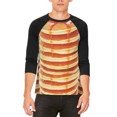 Halloween Breakfast Ideas (Halloween Pancakes and Syrup Breakfast Costume Mens Raglan T)
