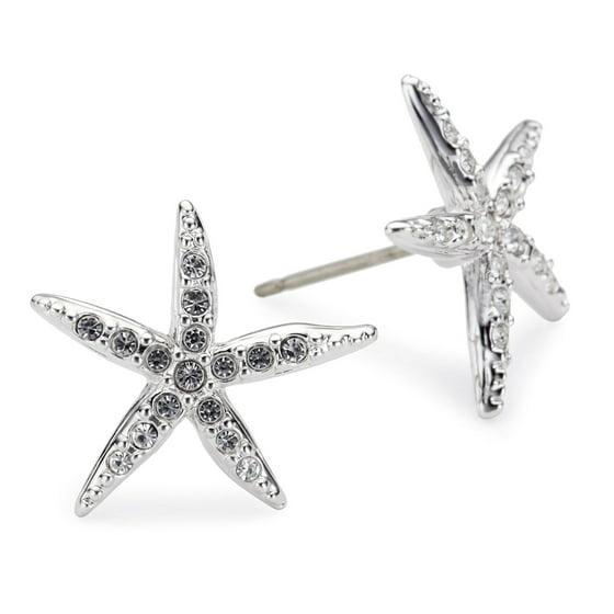 3271f4148 Swarovski - Clear Crystal Studs Pierced Earrings HOLLY STARFISH ...