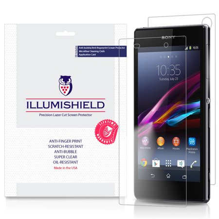3x iLLumiShield Screen Protector & Full Body Skin Front+Back for Sony Xperia (Sony Xperia Z1 Best Deals)