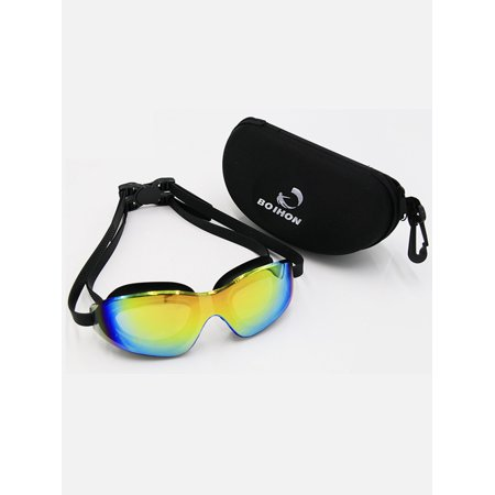 Lowestbest Swimming Goggles for Adults, Soft Nose Piece - Premium UV Protection Anti-Fog and 180 Degree Vision, Triathlon Goggles for Adult Men Women Youth (Water Goggles With Nose Piece)