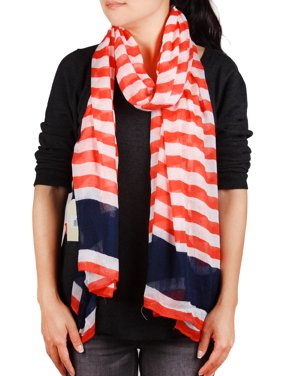 Richie House Red, White and Blue Summer Scarf RH0379