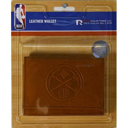 Denver Nuggets NBA Embossed Leather Trifold (Denver Nuggets Wallet)
