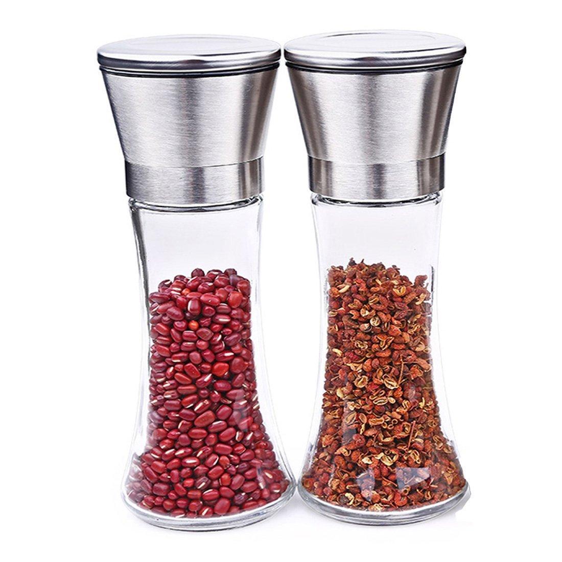 Kihappy Premium Stainless Steel Manual Salt and Pepper Gr...
