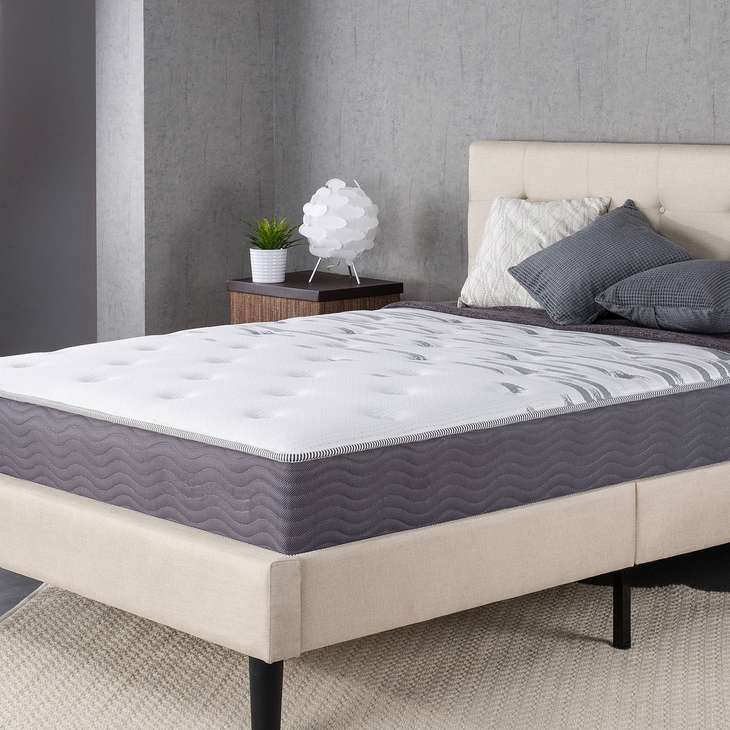 "Slumber 1 Big and Tall Maximum Support 10"" Spring Mattress, Multiple Sizes"