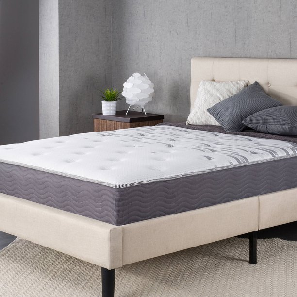 "Slumber 1 by Zinus Maximum Support Extra Firm 10"" Spring Mattress"