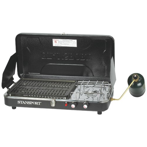 Stansport High Output Propane Camp Stove and Grill with Piezo Igniter