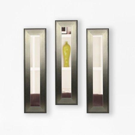 Rayne Mirrors Molly Dawn Brushed Aged Silvertone Wall Mirror