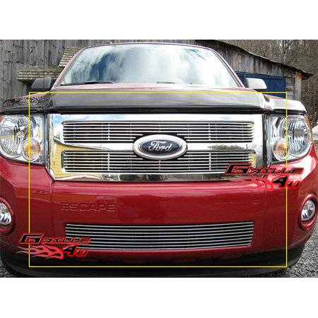 Compatible with 08-12 2011 2012 Ford Escape Billet Grille Grill Combo Insert F67828A Ford Escape Billet Grille