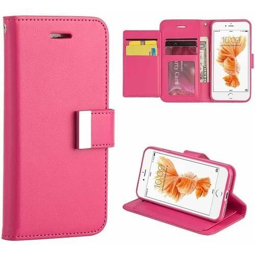 MUNDAZE Extra Storage Wallet Case for Apple iPhone 7 Plus, Black
