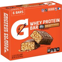 Gatorade Whey Protein Bars, Peanut Butter Chocolate, 20g Protein, 6 Ct