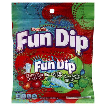Apple Dip (Lik-m-aid Fun Dip Cherry Yum, Diddly Dip, & Razz Apple Magic Dip, 3.01 Oz. )