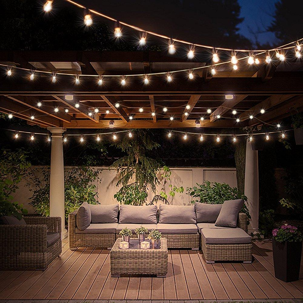 Led globe string lights with clear bulbs 60lm warm white lights hanging indoor outdoor light