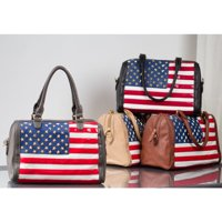 MKF Collection  American Flag  Didiere Fashion Satchel  Tote Bag Stars and Stripes  4th Of July Bag by Mia K.