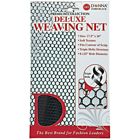 2 Pack - Donna collection  Black Deluxe Weaving Net 1 ea