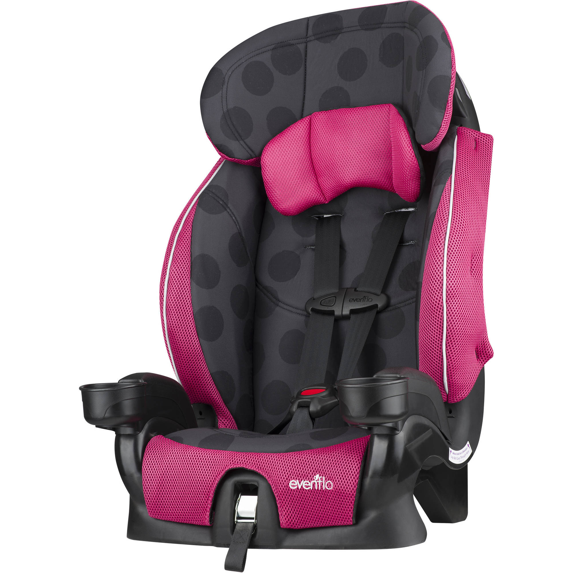 Evenflo Advanced Chase Lx Harness Booster Seat, Dotty Flamingo