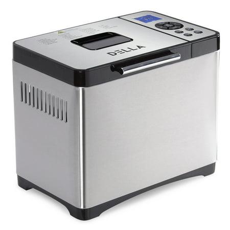 DELLA 650W Automatic Bread Maker Programmable Machine 3 Crust Colors and 19 Settings ETL