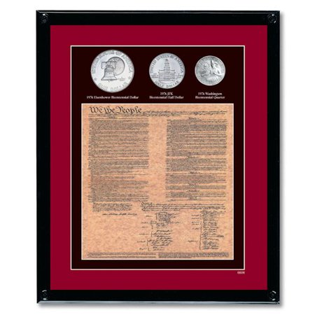 American Coin Treasures U.S. Constitution with All 3 Bicentennial Framed