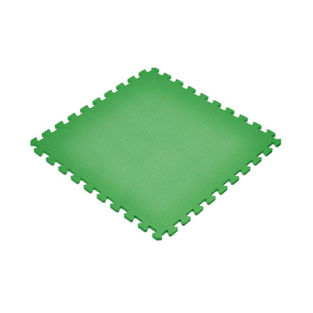 Norsk Green 24 in. x 24 in. EVA Foam Non-Toxic Solid Color Interlocking Tiles, 24