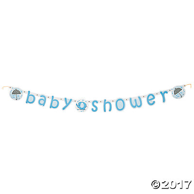 Umbrellaphants Blue Paper Jointed Banner