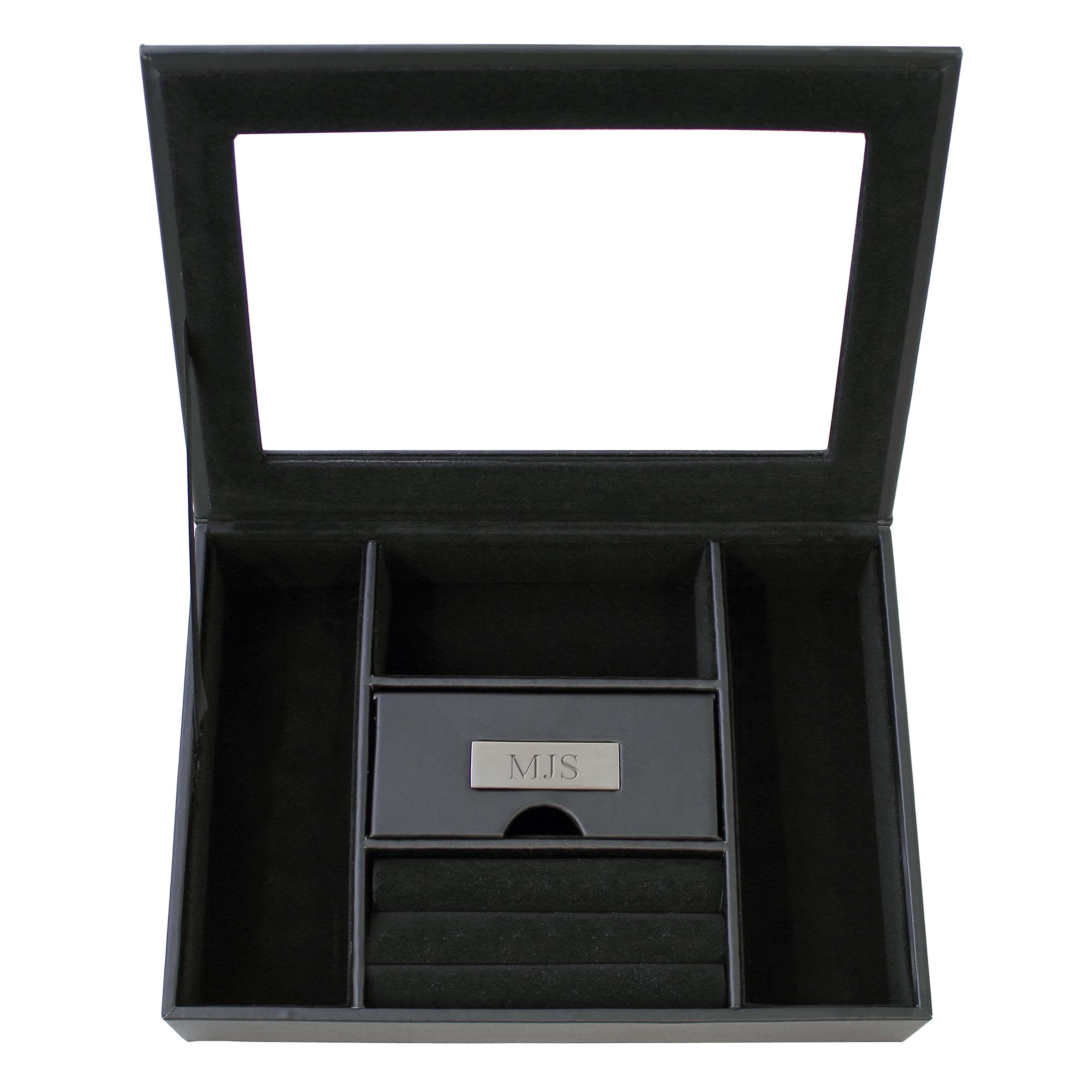 Personalized Men's Custom Valet Box in Black