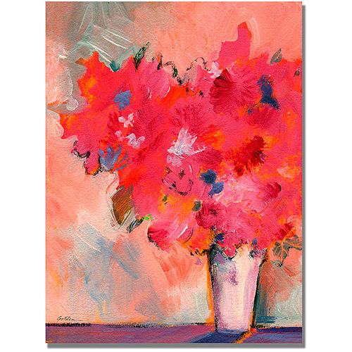 "Trademark Art ""Contemporary Floral"" Canvas Wall Art by Shelia Golden"