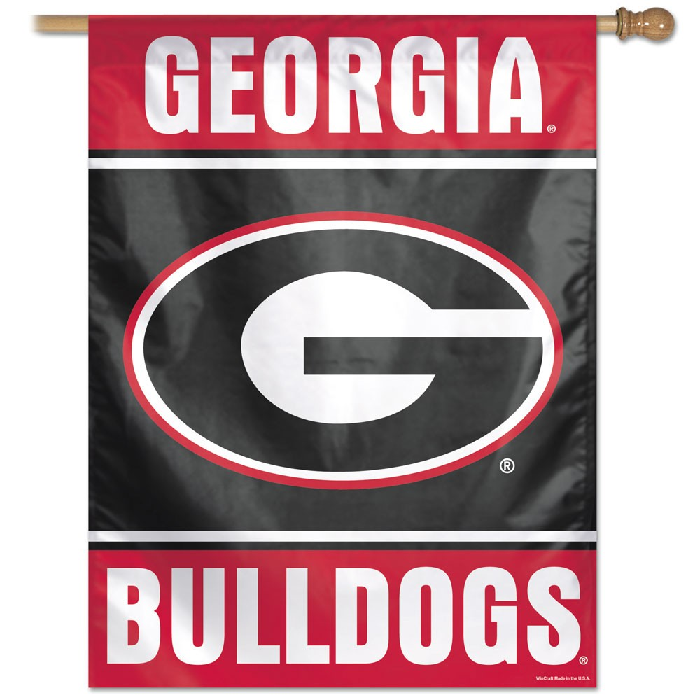 Georgia Bulldogs Official NCAA 27 inch  x 37 inch  Veritcal Banner Flag by Wincraft