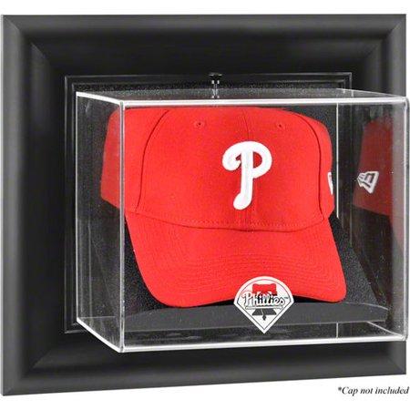 (MLB - Philadelphia Phillies Framed Wall Mounted Logo Cap Display Case)